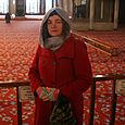 Teri inside the Blue Mosque