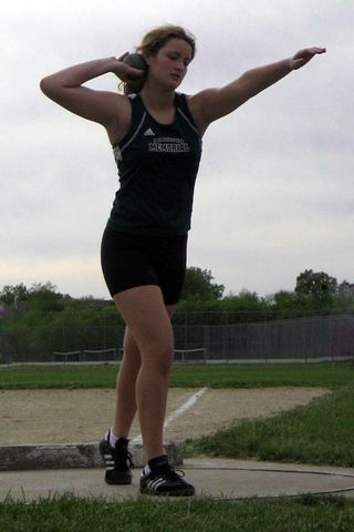 Jessi throwing for the last time this spring...