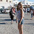 Jessi in Santorini