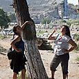 Ephesus in the background