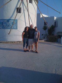 me, Joe & Christy on Mykonos