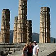 Columns of the Temple of Apollo at Delphi, Greece