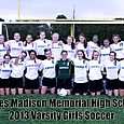 2013 Varsity Girls Soccer Team