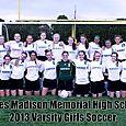 2013 Varsity Girls Soccer Team