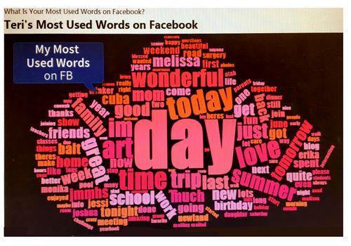 Facebook words