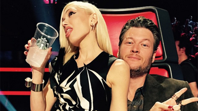 Gwen with Blake on The Voice