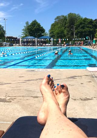Finally at the pool