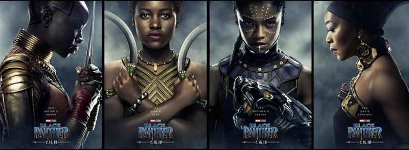 4 Women from Black Panther