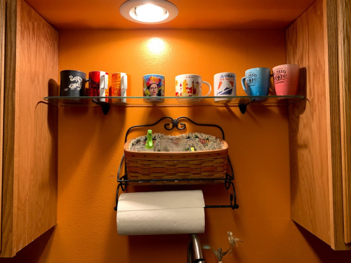 Coffee mug shelf