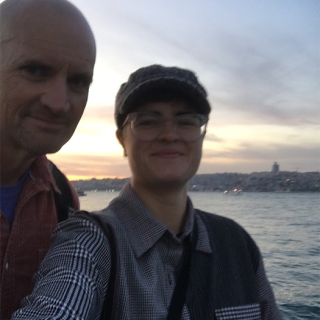Jim and monika in Istanbul