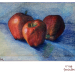 Apples in colored pencil