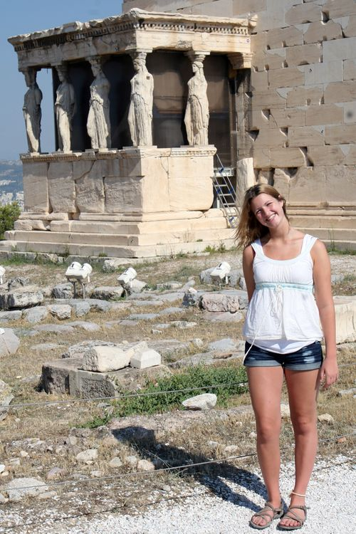 Erechtheum- (the north side of the Acropolis)