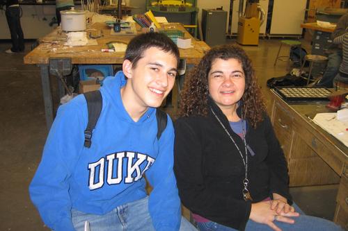Me w/ senior student, Barry
