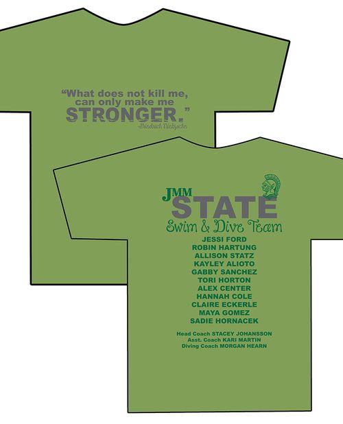 T-shirt Designs: STATE SWIM