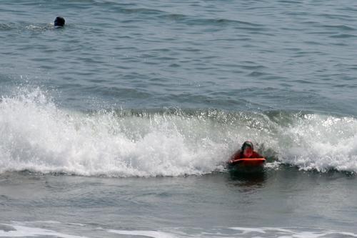 Monika surfing, 2007