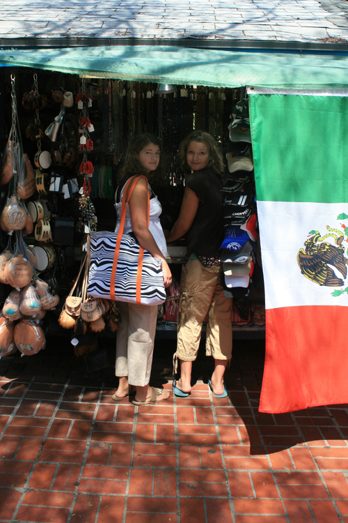 shopping on Olvera Street